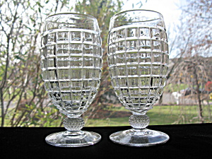 Heisey Victorian Footed 12 Oz. Soda Tumblers - Pr.