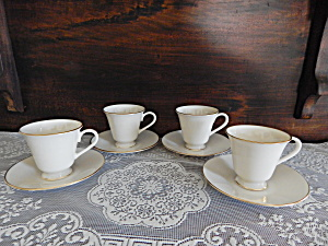Lenox Hayworth Demi Tasse Cup/saucer - Set Of 4