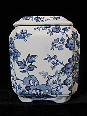 Mason's Ironstone Blue Manchu Tea Caddy