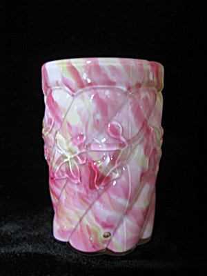 Northwood Cased Rainbow Spatter Royal Ivy Tumbler (Image1)