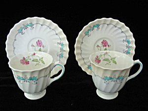 Royal Doulton The Picardy Demitasse Cups & Saucers