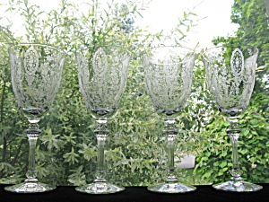 Tiffin Love Lace/ June Night Water Goblets - Set Of 4