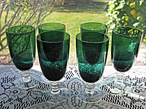 Tiffin Killarney Footed Juice Tumblers - Set Of 6