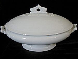 Antique White Ironstone Cockson & Seddon Oval Tureen