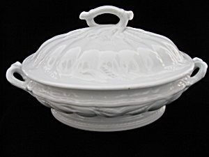 Antique Ceres Ironstone Covered Vegetable Tureen