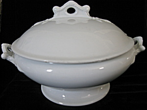 Antique Ironstone Round Footed Tureen - Seine