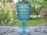 Click to view larger image of Antique EAPG Two Panel BLUE Goblet (Image1)