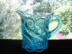Click here to enlarge image and see more about item A211: Northwood Ocean Blue S-Repeat Creamer