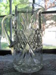 Click here to enlarge image and see more about item A228: Antique Royal Crystal Pattern glass Tankard Pitcher