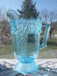 Click to view larger image of Eapg Blue Queen Pattern Water Pitcher (Image2)