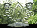 Click to view larger image of Cambridge Glass Candlelight Etch 2 Light Candlesticks - (Image5)