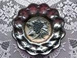 Click here to enlarge image and see more about item CR102: Rare Amethyst HEAVY GRAPE Carnival Glas Plate