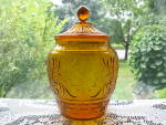 Click here to enlarge image and see more about item DG106: Hocking Sandwich Cookie  Jar - Desert Gold