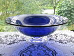 Fostoria Regal Blue Victorian Ftd. Centerpiece Bowl