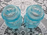 Click to view larger image of Fostoria Blue Coin Salt & Pepper Shakers (Image5)
