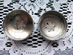 Click to view larger image of Fostoria Blue Coin Salt & Pepper Shakers (Image6)