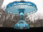 Click to view larger image of Fostoria Azure Blue Coin Cake Stand/Salver (Image2)