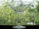 Click to view larger image of Heisey Empress Ftd. Oval Compote w/Lafayette Etching (Image2)