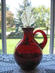 Click here to enlarge image and see more about item NM101: New Martinsville Ruby #42 Roly Poly Decanter