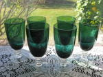 Click here to enlarge image and see more about item TF110: Tiffin Killarney Footed  Juice Tumblers - Set of 6