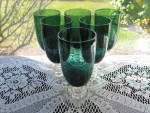 Click to view larger image of Tiffin Killarney Footed  Juice Tumblers - Set of 6 (Image2)