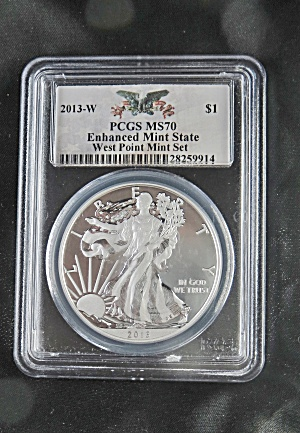 Silver Dollar PCGS MS 70 2013-W Enhanced Mint State West Pt. Mint Set (Image1)