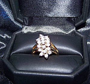 Ladies 14 K yellow gold ring w/ gemological certification (Image1)