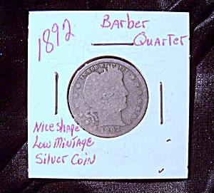 United States Barber Quarter 1892 (Image1)
