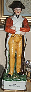 Colonial Soldier Decanter 1st Pennsylvania 1775