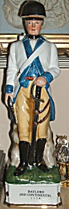 Colonial Soldier Decanter Baylors 3rd. Continental 1778