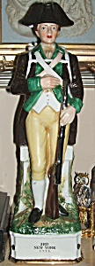 Colonial Soldier Decanter 3rd. New York 1775