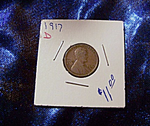 Lincoln wheat penny 1917 D (Image1)