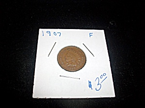 Indian Head Penny 1907 F