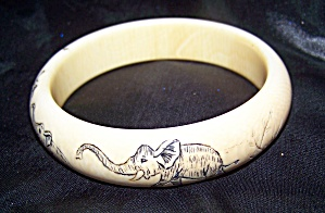 Scrimshaw genuine antique pre-ban African ivory from elephant tusk (Image1)