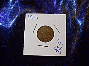 Indian Head Penny 1901