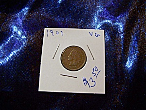 Indian Head Penny 1901 Vg