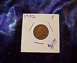 Indian Head Penny 1902 F