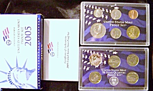 UNITED STATES MINT SILVER PROOF SET 2005 (Image1)