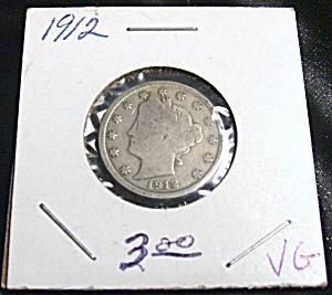 Liberty Head Nickel 1912 VG (Image1)