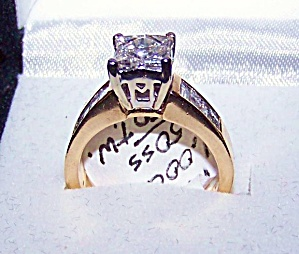 Diamond, ladies 14K Y gold engagement ring  .40 carat (Image1)