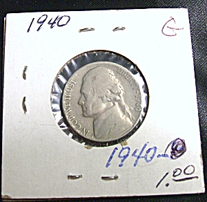 World War II era Jefferson Nickel 1940 G (Image1)