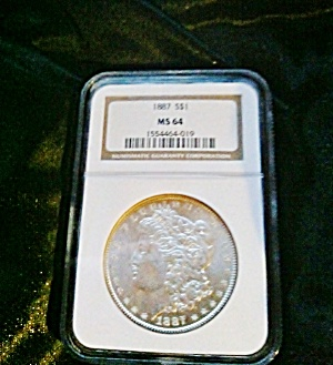 Morgan Silver Dollar 1887 Ms64 Ngc Certified