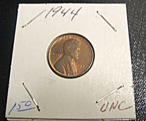 Lincoln Penny wartime 1944 UNC (Image1)