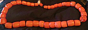 Bright Red Orange Coral Beads, Large, Antique.sale Thru Veteran's Day