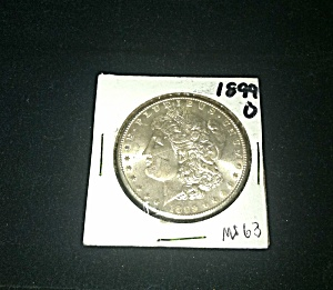 "1899-o Morgan Silver Dollar Nice ""ms-63"""