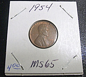 Lincoln Penny 1954 MS 65 (Image1)