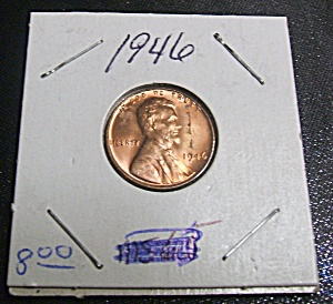 Lincoln Penny 1946 mint state condition. (Image1)