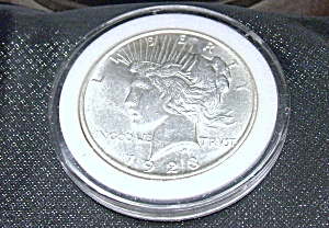 Peace Dollar 1923 plastic encased. (Image1)
