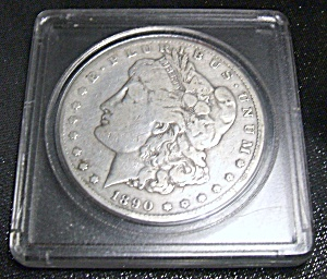 Carson City Silver Dollar 1890 Plastic Encased.