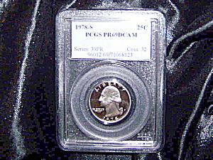 U.S. Quarter 1978-S PR69DCAM PCGS certified (Image1)